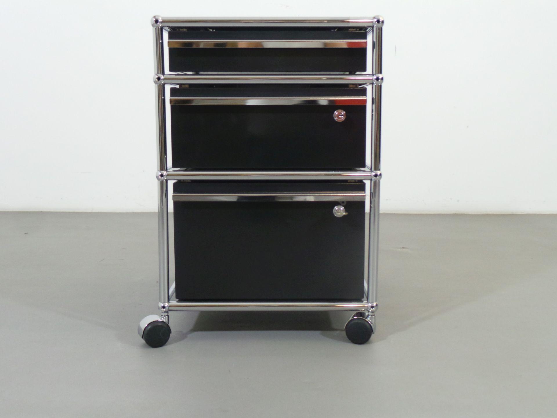 Usm haller rollcontainer schwarz 3 x auszug h ngeregister 2 x schloss arttolive by ralph - Usm haller rollcontainer ...