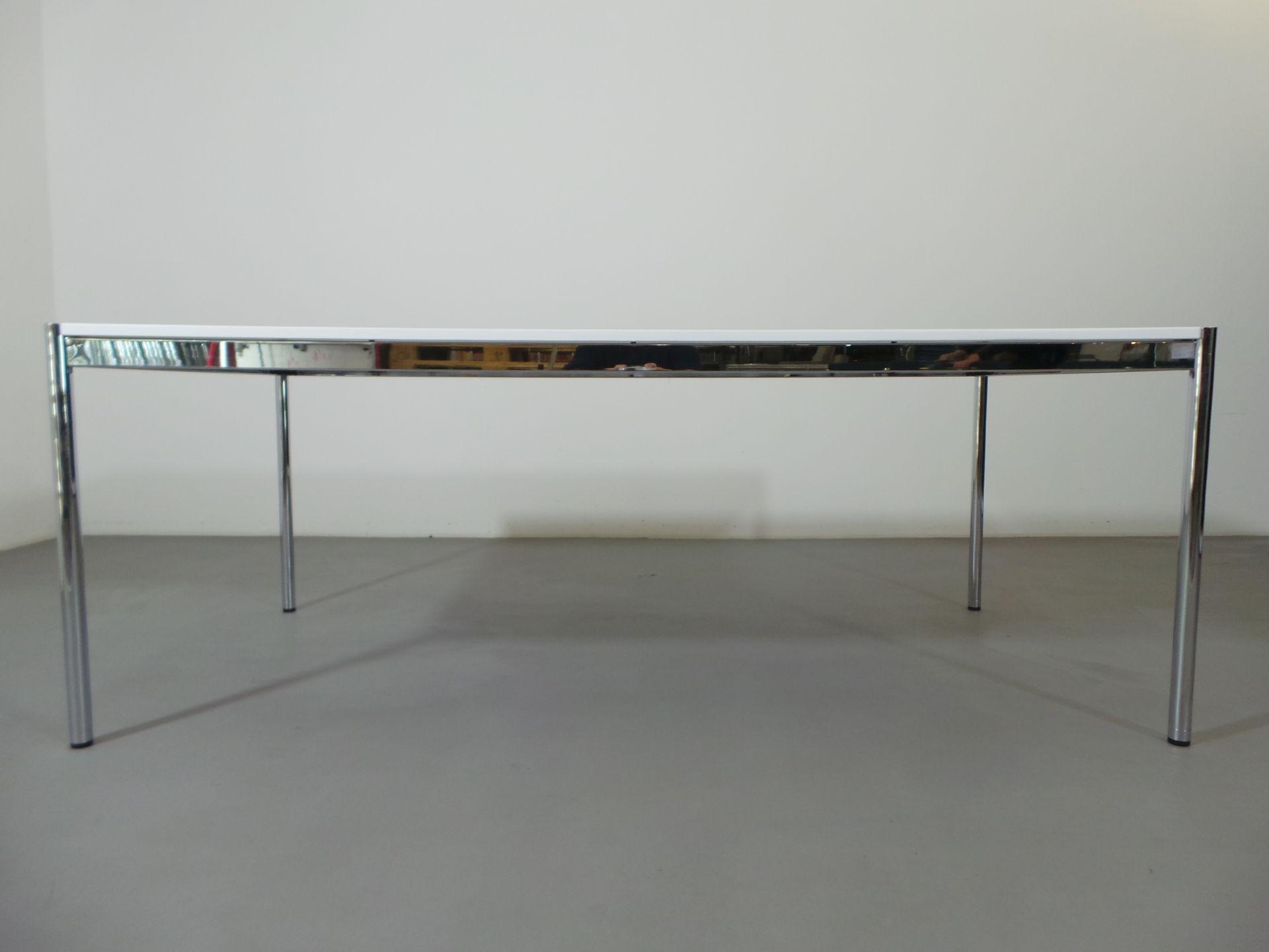 usm haller schreibtisch konferenztisch holz lackiert wei 200 cm x 100 cm arttolive by ralph. Black Bedroom Furniture Sets. Home Design Ideas