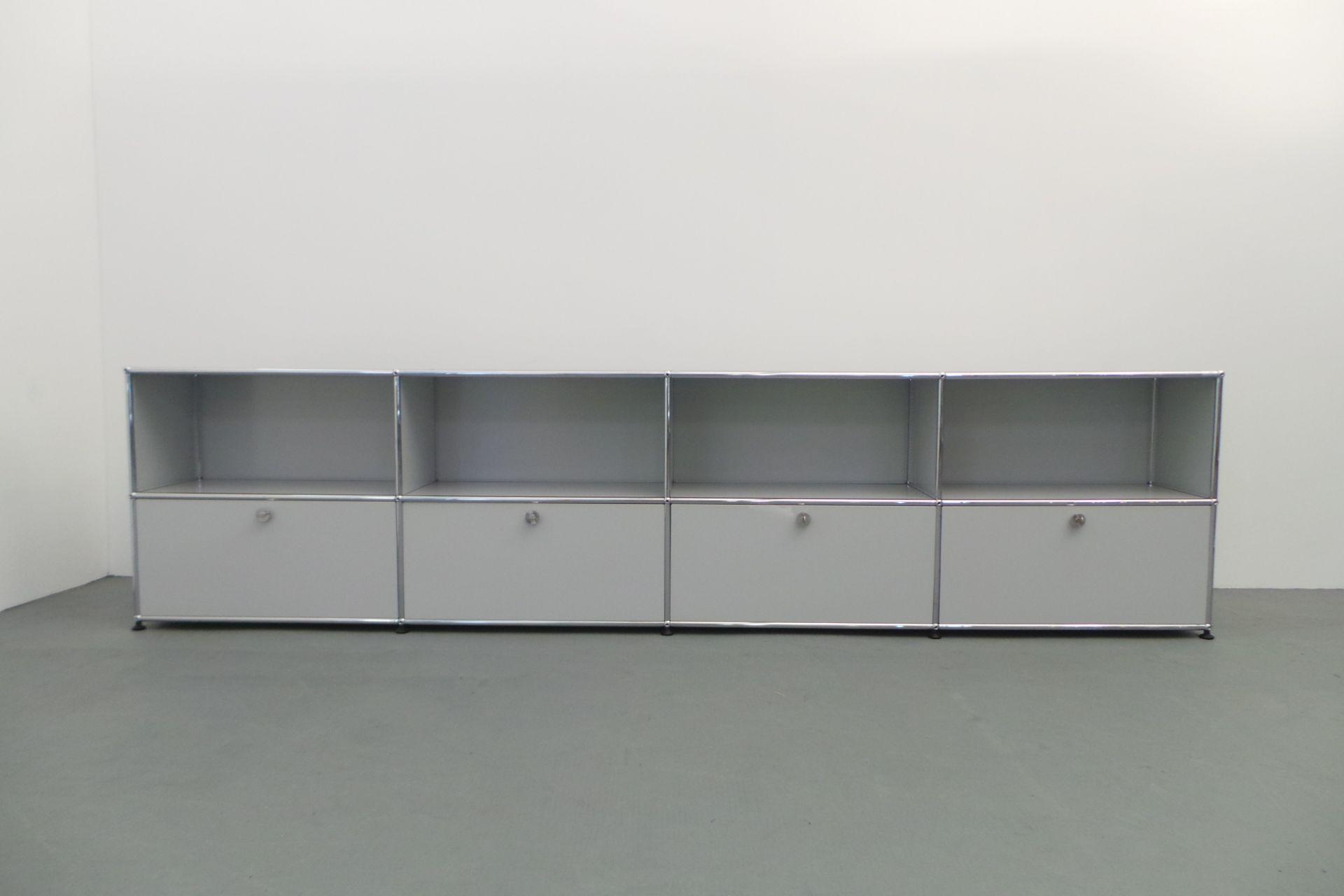usm haller sideboard 8 x modul lichtgrau breite 300 cm mit. Black Bedroom Furniture Sets. Home Design Ideas